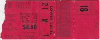 1978 WHA Playoffs ticket stub Jets at Bulls
