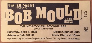 1995 Bob Mould ticket stub Rochester