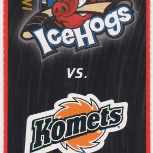1999 Rockford IceHogs ticket stub vs Fort Wayne Komets 11/21/1999