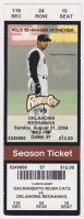 2004 Sacramento River Cats ticket stub vs Oklahoma City
