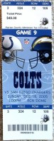 2005 Indianapolis Colts ticket vs San Diego Chargers