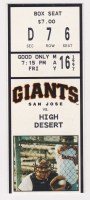 1997 San Jose Giants ticket stub vs High Desert Mavericks