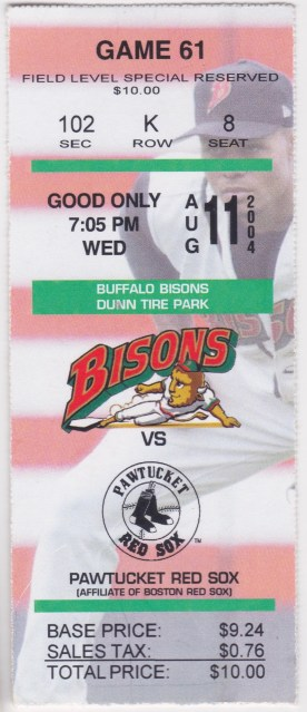 2004 MiLB International League Pawtucket Red Sox at Buffalo Bisons