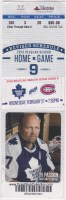 2013 Toronto Maple Leafs ticket stub vs Montreal Canadiens