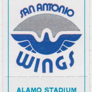 1975 WFL San Antonio Wings ticket stub vs Vulcans
