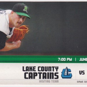 2013 Dayton Dragons ticket stub vs Captains