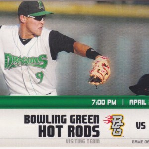 2013 Dayton Dragons ticket stub vs Hot Rods for sale