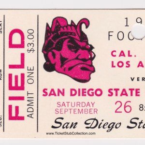 1970 NCAAF San Diego State vs Cal State Los Angeles for sale