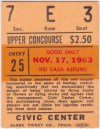 1963 Baltimore Clippers ticket stub vs Cleveland