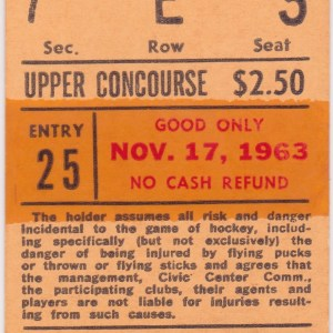 1963 Baltimore Clippers ticket stub