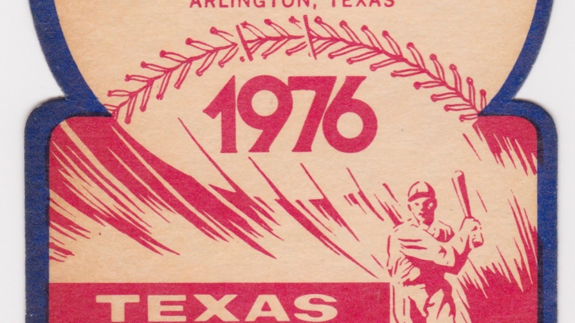 1976 Texas Rangers Opening Day ticket stub