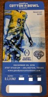 2018 Cotton Bowl Notre Dame vs Clemson ticket stub