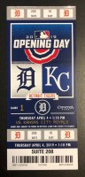 2019 Detroit Tigers Opening Day ticket stub vs Rangers