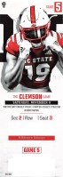 2019 NCAAF North Carolina State ticket stub vs Clemson
