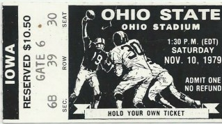 1979 NCAAF Ohio State ticket stub vs Iowa 13