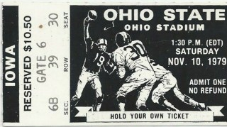 1979 NCAAF Ohio State ticket stub vs Iowa