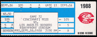1988 Tom Browning Perfect Game ticket stub