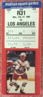 1989 Guy Lafluer Hat Trick Ticket Stub