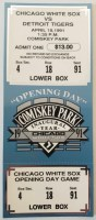 1991 Chicago White Sox ticket stub vs Tigers New Comiskey Opening