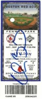 2007 Clay Buchholz No Hitter ticket stub