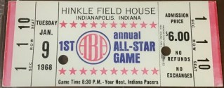 1968 ABA First All Star Game ticket stub 676