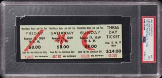 1969 Woodstock Full Three Day Ticket