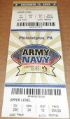 2009 NCAAF Army vs Navy ticket stub