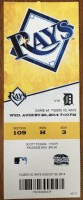 2014 Tampa Bay Rays ticket stub vs Tigers