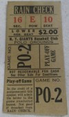 1951 New York Giants Win the Pennant ticket stub