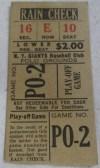 1951 New York Giants Win the Pennant ticket stub