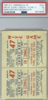 1961 Roger Maris 4 Home Run ticket stub