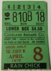 1975 Frank Robinson Home Run 575 ticket stub