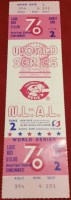 1976 World Series Game 2 Full Ticket Reds vs Yankees