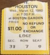 1980 Larry Bird Rookie Near Triple Double Ticket Stub
