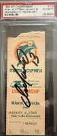 1985 AFC Championship Game ticket stub Steelers Dolphins