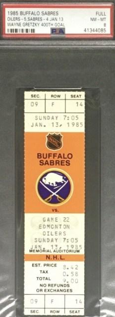 1985 Wayne Gretzky 400th Goal Ticket 149