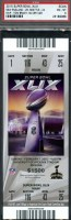 2015 Super Bowl ticket stub Seattle vs New England