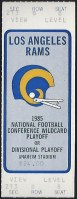 1986 NFC Divisional Game ticket stub Rams Cowboys