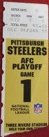 1995 AFC Divisional Game ticket stub Steelers vs Browns