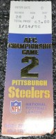 1996 AFC Championship Game ticket stub Steelers Colts