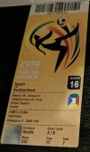 2010 FIFA World Cup ticket stub Spain Switzerland