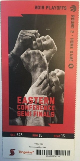 2019 NBA Playoffs Raptors vs 76ers ticket stub