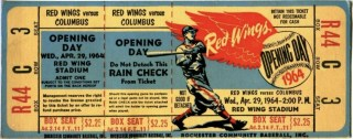 1964 Rochester Red Wings ticket stub vs Columbus 38.18