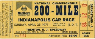 1971 Marlboro 200 ticket stub