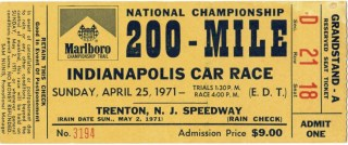 1971 Trenton 200 ticket stub