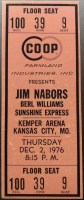 1976 Jim Nabors ticket stub Kemper Arena