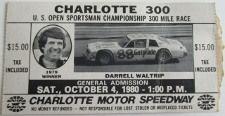 1980 Charlotte 300 Ticket Stub 13