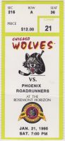 1995 IHL Chicago Wolves ticket stub vs Phoenix