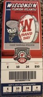 2017 NCAAF Wisconsin Badgers ticket stub vs Florida Atlantic