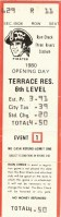 1980 Pittsburgh Pirates Opening Day ticket stub vs Cubs